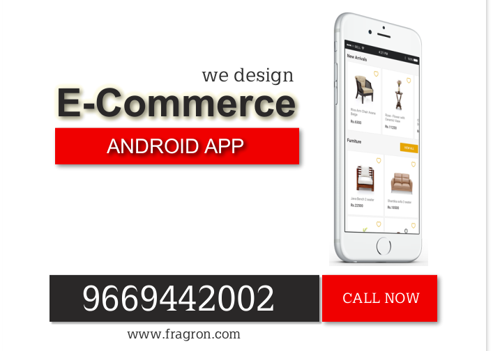 E-Commerce Website & Android Application Designing in India By Fragron Infotech