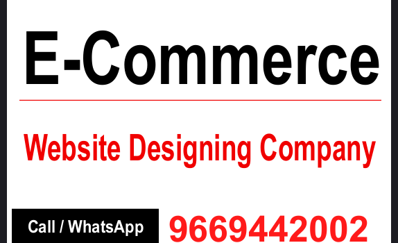 E COmmerce Website Designing in india.