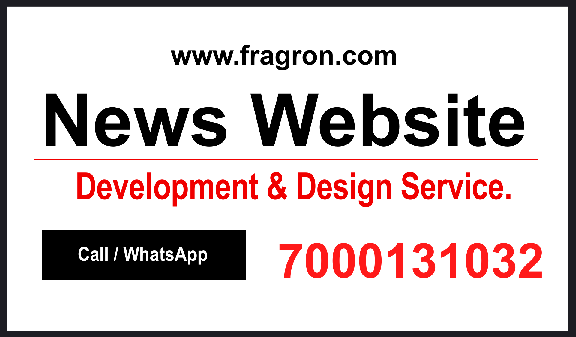 News Website Development and Design service