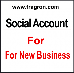 Social Account For New Business.