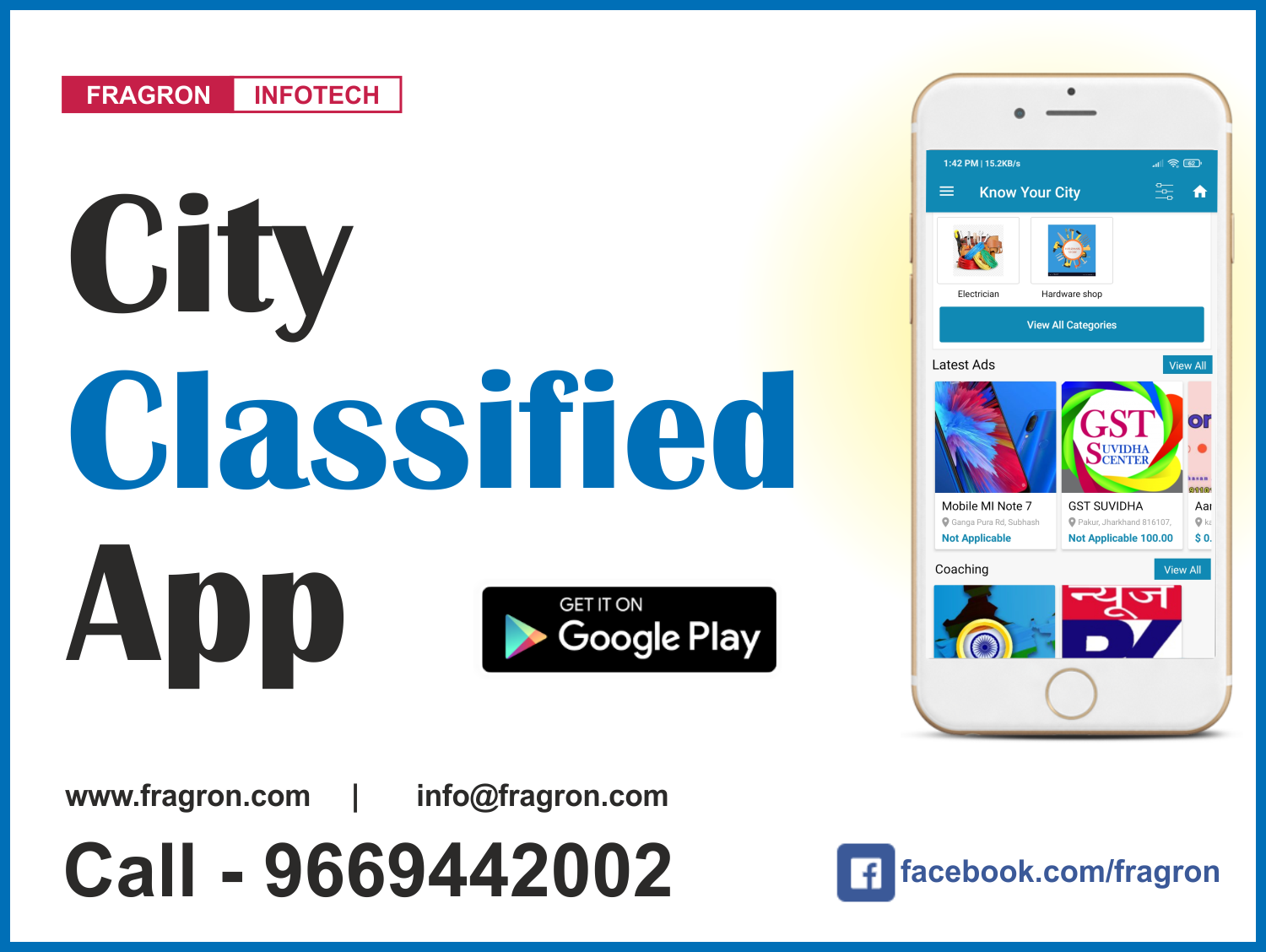 City Classified App Like Just Dial / OLX
